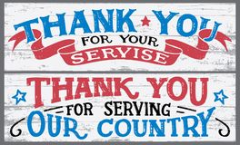 Thank you for your service wood signs