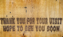 Thank You for your visit Royalty Free Stock Images