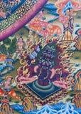 Thanka tibetian antiguo foto de archivo libre de regalías