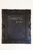 Thankful For Chalkboard Stock Photo
