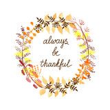 Thankful greeting card Stock Images