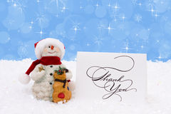 Thankful Snowman Stock Photo