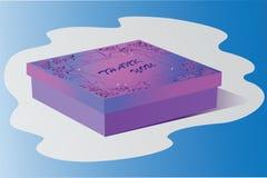thankfulness Contenitore di regalo La progettazione del regalo illustrazione vettoriale