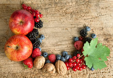 Thankgiving board with fruit Royalty Free Stock Image