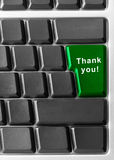 Thanks. Computer keyboard concept with key Thank You Royalty Free Stock Photos