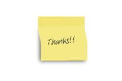Thanks. Post it isolated background Royalty Free Stock Photos
