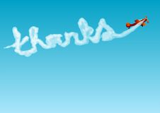 Thanks. Aerobatics with the inscription. 10 EPS Stock Images
