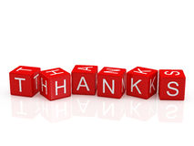 Thanks Blocks Royalty Free Stock Image