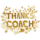 Thanks Coach Royalty Free Stock Images