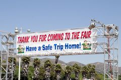 Thanks For Coming Sign. A thank you sign at exit of fair grounds royalty free stock images