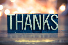 Thanks Concept Metal Letterpress Type Stock Photography