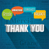 thanks in different languages design Stock Photography
