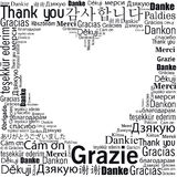 Thanks in different languages design Royalty Free Stock Image