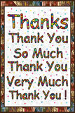 Thanks English. Illustration abstract drawing thanks thank you so much thank you very much thank you! frame painting thanks calligraphy love around. Thank you Royalty Free Stock Photography
