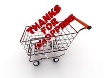 Thanks för shopping Vektor Illustrationer