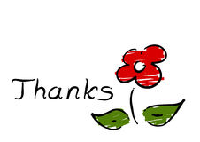 Thanks - flower. Stock Photo