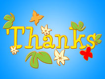 Thanks Flowers Means Gratitude Thankful And Florals Royalty Free Stock Photography