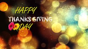Greetings. Thanks giving greetings with blurs as background Stock Images