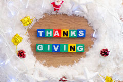 Thanks giving idea Royalty Free Stock Photography