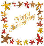 Thanks Giving text Royalty Free Stock Image
