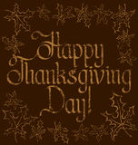 Thanks Giving text Royalty Free Stock Images