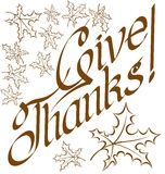 Thanks Giving text Royalty Free Stock Photography