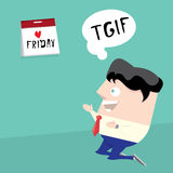 Thanks god it is friday concept. i love friday Stock Photos