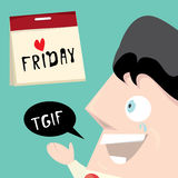 Thanks god it is friday concept. i love friday Royalty Free Stock Image