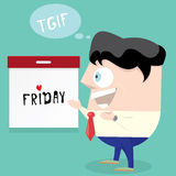 Thanks god it is friday concept. i love friday Royalty Free Stock Photography