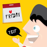 Thanks god it's friday concept. i love friday Stock Photo
