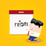 Thanks god it's friday concept. i love friday Royalty Free Stock Images
