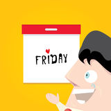 Thanks god it's friday concept. i love friday Royalty Free Stock Image