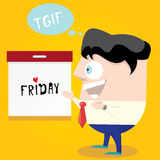 Thanks god it's friday concept. i love friday Royalty Free Stock Photography
