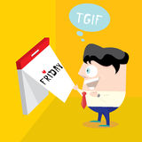 Thanks god it's friday concept. i love friday Stock Image