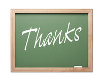 Thanks Green Chalk Board Series Royalty Free Stock Photo