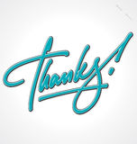 THANKS hand lettering (vector) Royalty Free Stock Photo