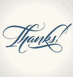 THANKS hand lettering (vector) Stock Image