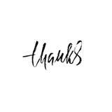 Thanks handwritten inscription. Hand drawn modern dry brush lettering. Thank you card. Vector illustration. Thanks handwritten inscription. Hand drawn modern Vector Illustration