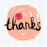 Thanks lettering calligraphy Stock Photo