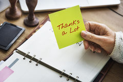 Thanks Lot Word Grateful Handwritten Concept. Thanks Lot Grateful Handwritten Concept royalty free stock image