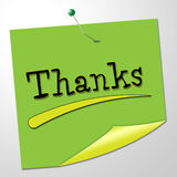 Thanks Message Represents Thankful Appreciate And Communicate Stock Images