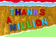 Thanks million thank you gratitude appreciation Thanksgiving help