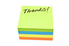Thanks Note Stock Image