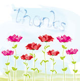 Thanks postcard design Stock Images