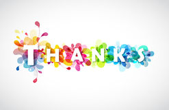 Thanks quotation with colorful abstract backgrounds Stock Images
