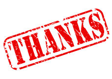 Thanks red stamp text Royalty Free Stock Photography