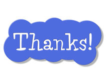 Thanks Sign Represents Advertisement Signboard And Placard Stock Images