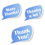 Thanks stickers Stock Images
