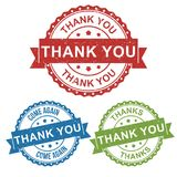 Thanks, thank you, come again, vector badge label stamp tag for product, marketing selling online shop or web e-commerce vector illustration