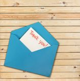 Thanks. Tnx thx thanx thank you evelope envelopes Royalty Free Stock Photo